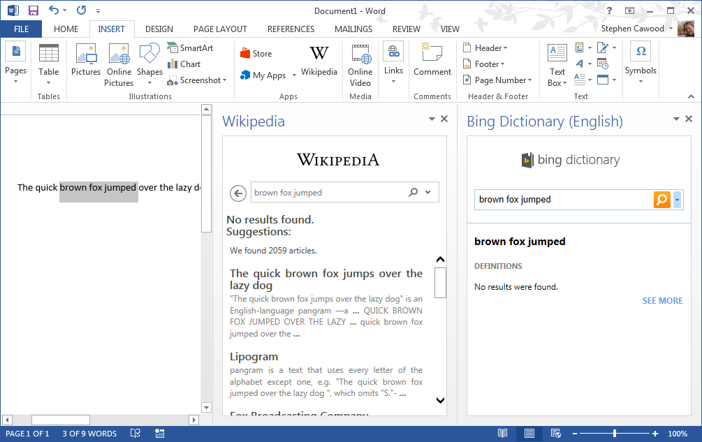 cawood's blog - geek literature: Add Wikipedia App to Microsoft Word