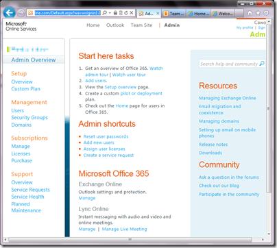 Office 365 Admin geeklit.com stephen cawood