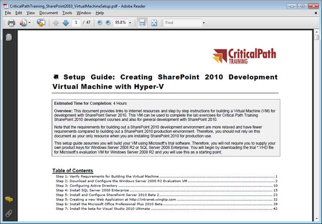 SharePoint 2010 Development with Visual Studio 2010 (Microsoft Windows Development Series) books pdf