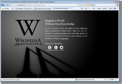 SOPA Wikipedia geeklit.com